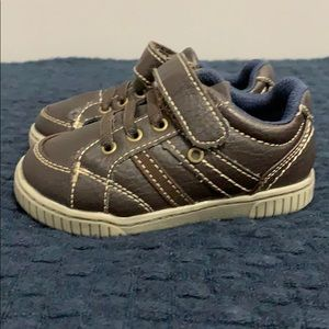 Okie Dokie Toddler Boys Brown Leather Shoes